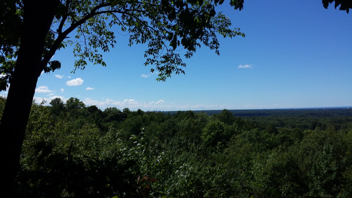 Lake Erie view from Chapin Forest, just east of CLE