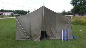 Field Day - Tent and Solar panel