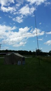 Loop Antenna, Tent, and Solar panel