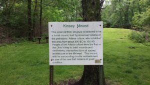 Sign of Kinsey Mound Historical Description