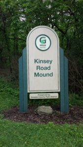 Kinsey Road Mound Preserve Sign